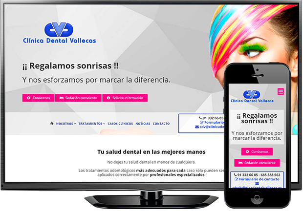 Página web de Clínica Dental Vallecas (Vallecas)