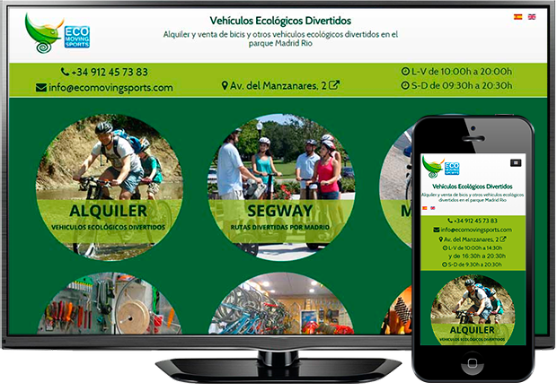 Pagina web Ecomoving Sports (Madrid)