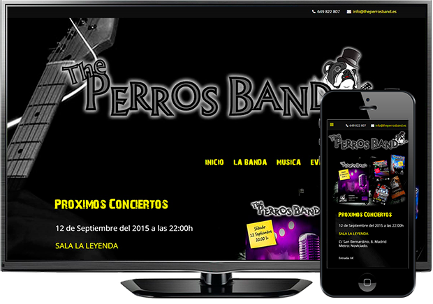 Página web The Perros Band (Madrid)